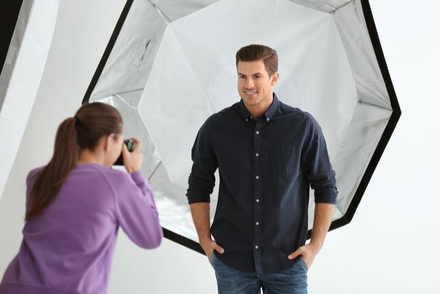 Fotoshooting für ein Bewerbungsfoto