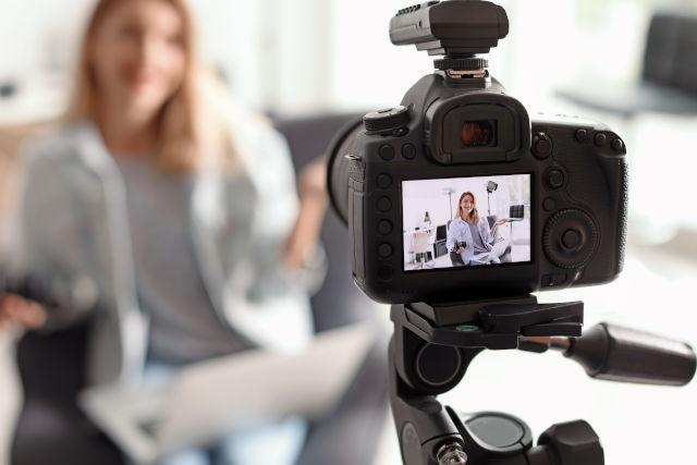 ein Bewerbungsvideo wird gedreht