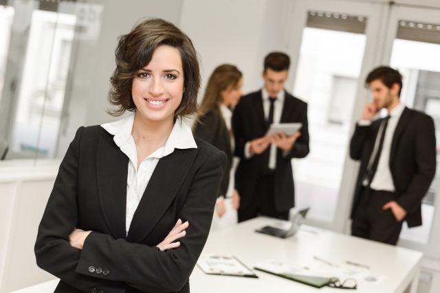 eine weibliche Führungskraft